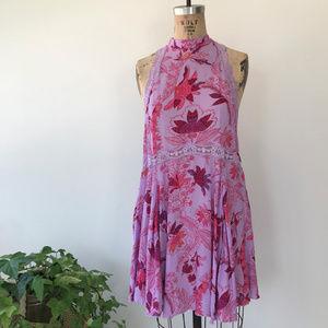 Free People She Moves Chemise Mini Dress